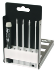 5 Piece - System 4 ESD Safe Torx® Interchangeable Set - #26995 - Includes: T6 - T20 - ESD Safe Handle - Compact Fold Out Box.