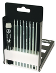 9 Piece - System 4 ESD Safe Hex Metric Interchangeable Blade Set - #26999 - Includes: .71 - 4.0mm - ESD Safe Handle - Compact Fold Out Box