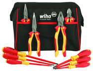 10 Piece - Insulated Pliers; Cutters; Slotted & Phillips Screwdrivers in Tool Box