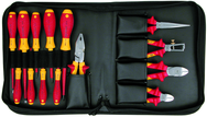 14 Piece - Insulated Pliers; Cutters; Slotted & Phillips Screwdrivers; in Zipper Carry Case