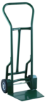 "Shovel Nose Freight, Dock and Warehouse 900 lb Capacity Hand Truck - 1-1/4"" Tubular steel frame robotically welded - 1/4"" High strength tapered steel base plate -- 8"" Solid Rubber wheels"