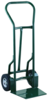 "Shovel Nose Fright, Dock and Warehouse 900 lb Capacity Hand Truck - 1- 1/4"" Tubular steel frame robotically welded - 1/4"" High strength tapered steel base plate -- 10"" Solid Rubber wheels"