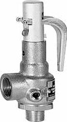 "Conbraco - 2"" Inlet, 2-1/2"" Outlet, High Pressure Safety Relief Valve - 50 Max psi, Bronze, 4,246 Lb per Hour"