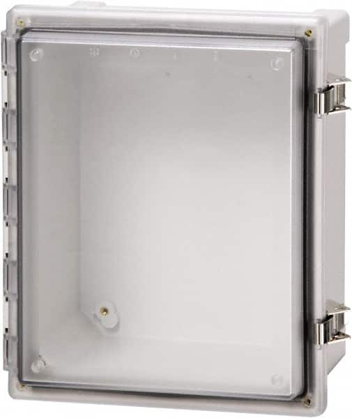 "Fibox - Polycarbonate Standard Enclosure Hinge Cover - NEMA 4, 4X, 6, 6P, 12, 13, 16"" Wide x 18"" High x 10"" Deep, Impact, Moisture & Corrosion Resistant, Dirt-tight & Dust-tight"