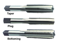 3 Piece 7/16-14 H3 4-Flute HSS Hand Tap Set (Taper, Plug, Bottoming)