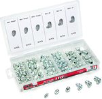 110 Pc. Grease Fitting Assortment - stright and 90 degree fittings
