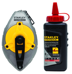 STANLEY® FATMAX® Aluminum Chalk Line Reel with 4 oz. Red Chalk