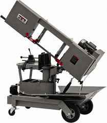 "Jet - 8 x 9"" Max Capacity, Manual Step Pulley Horizontal Bandsaw - 64, 132 & 247 SFPM Blade Speed, 115/230 Volts, 90°, 1 hp, 1 Phase"