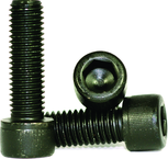 M10 - 1.50 x 20mm - Black Finish Heat Treated Alloy Steel - Cap Screws - Socket Head