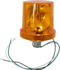 Federal Signal Corp - 4X NEMA Rated, 120 VAC, 0.22 Amp, 25 Watt, Rotating Beacon Incandescent Light - 1/2 Inch Mounted Size x Pipe Mounted, 7-1/4 Inch High, 5-1/2 Inch Diameter, 90 Flashes per min, Includes Lamp