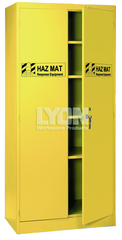 "HazMat Cabinet - #5460HM - 36 x 24 x 78"" - Setup with 4 shelves - Yellow only"
