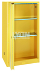 "Storage Cabinet - #5461 - 32 x 32 x 65"" - 60 Gallon - w/2 shelves, bi-fold self-closing door - Yellow Only"