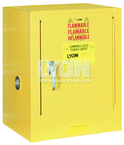 "Piggyback Storage Cabinet - #5470 - 17 x 18 x 22"" - 4 Gallon - w/one shelf, 1-door manual close - Yellow Only"