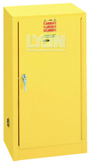 "Compact Storage Cabinet - #5474 - 23-1/4 x 18 x 44"" - 15 Gallon - w/one shelf, 1-door manual close - Yellow Only"