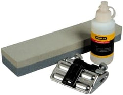Stanley - 3 Piece Aluminum Oxide Honing Guide, Double Sided Oilstone & White Oil - Medium/Fine