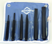 6 Piece Punch & Chisel Set -- #5RC; 5/32 to 3/8 Punches; 7/16 to 5/8 Chisels