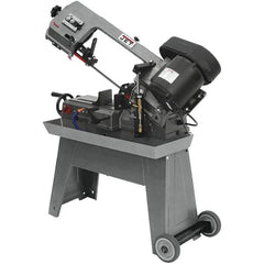 "Jet - 7-1/2 x 5"" Max Capacity, Manual Geared Head Horizontal Bandsaw - 85, 125 & 200 SFPM Blade Speed, 115/230 Volts, 45°, 0.5 hp, 1 Phase"