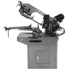"Jet - 8-3/4 x 7"" Max Capacity, Manual Geared Head Horizontal Bandsaw - 157 to 314 SFPM Blade Speed, 230 Volts, 45 & 60°, 1.5 hp, 3 Phase"