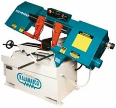 "Clausing - 9 x 14-1/2"" Max Capacity, Manual Variable Speed Pulley Horizontal Bandsaw - 50 to 295 SFPM Blade Speed, 230/460 Volts, 45°, 2 hp, 3 Phase"