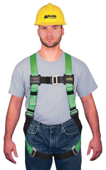 Miller HP Series Non-Stretch Harness w/Friction Buckle Shoulder Straps; Mating Buckle Leg Straps & Mating Buckle Chest Strap