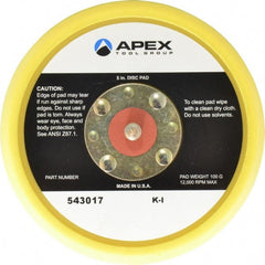 "Cleco - 5"" Diam Adhesive/PSA Disc Backing Pad - Hard Density, 13,000 RPM"