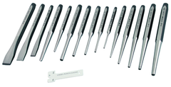 "16 Piece - 3/32 to 3/16"" Punches; 3/8 to 5/8 Chisels - Punch & Chisel Set"
