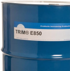 Master Fluid Solutions - Trim E850, 54 Gal Drum Cutting & Grinding Fluid - Water Soluble, For Cutting, Grinding
