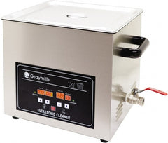 "Graymills - Bench Top Water-Based Ultrasonic Cleaner - 4 Gal Max Operating Capacity, 304 Stainless Steel Tank, 330.2mm High x 14"" Long x 13"" Wide, 120 Input Volts"
