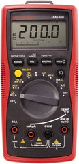 Amprobe - 4210333, CAT IV, CAT III, 1,000 VAC/VDC, Digital Average Responding Multimeter - 60 mOhm, Measures Voltage, Capacitance, Current, Frequency, Resistance, Temperature