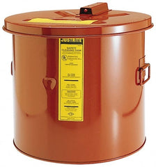 "Justrite - Bench Top Solvent-Based Parts Washer - 5 Gal Max Operating Capacity, Steel Tank, 330.2mm High x 13-3/4"" Wide"
