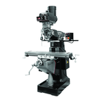 "9 x 49"" Table EVS Elec Variable Speed Mill with 3-Axis ACU-RITE 300S (Knee) DRO and X-Axis JET Powerfeed"