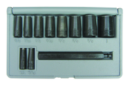 11 Pc. Gasket Hole Punch Set - Long Driving Mandrel & 1/4; 5/16; 3/8; 7/16; 1/2; 9/16; 5/8; 3/4; 7/8; 1""