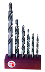 6 Pc. HSS Step Drill Set for Holes-To-Be-Tapped