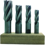 4 pc. HSS Roughing End Mill Set