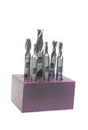 6 Pc. HSS Double-End End Mill Set