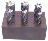 6 Pc. HSS Reduced Shank End Mill Set