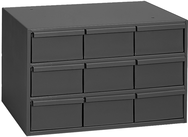 10-7/8 x 11-5/8 x 17-1/4'' (9 Compartments) - Steel Modular Parts Cabinet