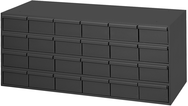 14-3/8 x 11-5/8 x 33-3/4'' (24 Compartments) - Steel Modular Parts Cabinet