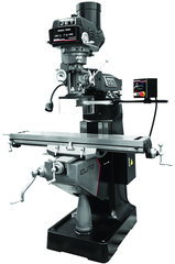 "9 x 49"" Table Variable Speed Mill With 2-Axis ACU-RITE DP700 DRO and X-Axis JET Powerfeed and KURT Power Draw Bar"
