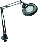 "LED Circline Illuminated Magnifier - 5 Diopter 45"" Articulating Arm - Clamp on Base"