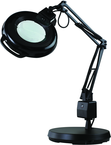 "LED Circline Illuminated Magnifier - 5 Diopter 30"" Articulating Arm - Heavily Weighted Base"