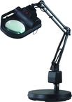 "LED Illuminated Magnifier - 5 Diopter - 30"" Articulating Arm - Weighted Base"