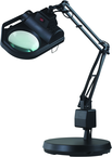 "LED Illuminated Magnifier - 45"" Articulating Arm - Adjustable Clamp Base"
