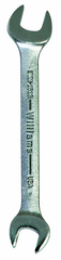 27.0 x 30mm - Chrome Satin Finish Open End Wrench