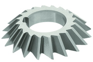 4 x 1 x 1-1/4 - HSS - 60 Degree - Left Hand Single Angle Milling Cutter - 20T - TiCN Coated