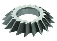 6 x 1 x 1-1/4 - HSS - 60 Degree - Right Hand Single Angle Milling Cutter - 24T - TiCN Coated