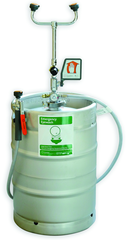 Guardian self-contained eyewash/drench hose unit is ideal for use in low traffic areas, and where a continuous supply of potable water is unavailable for plumbed units. 15 gallon pressurized unit is ideal for floor placement near any hazard.