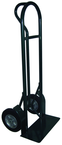 "Super Steel - 800 lb Capacity Hand Truck - ""P"" Handle design - 50"" Height and large base plate - 10"" Solid Rubber tires"