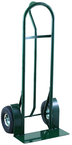"Super Steel - 800 lb Capacity Hand Truck - ""P"" Handle design - 50"" Height and large base plate - 10"" Heavy Duty Pneumatic All-Terrain tires"