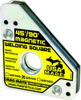 Magnetic Welding Square - Covered Heavy Duty - 3-3/4 x 3/4 x 4-3/8'' (L x W x H) - 75 lbs Holding Capacity